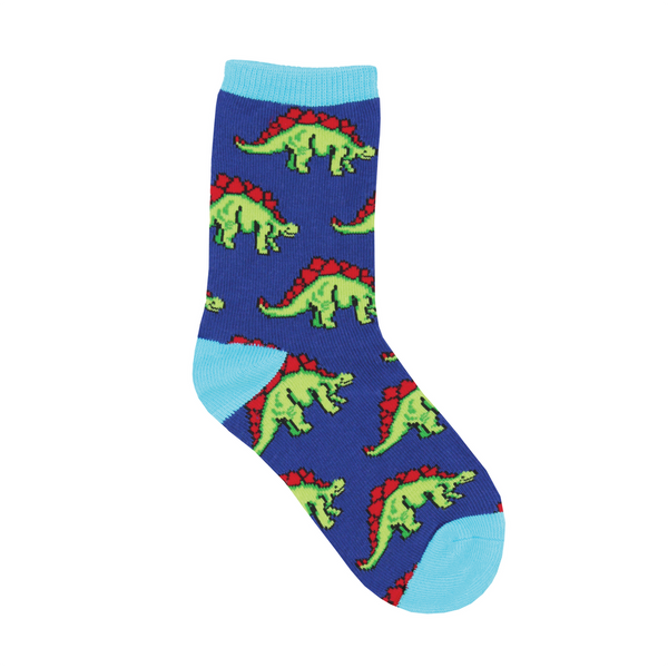 4-7 YR Leggo My Stego Dinosaur Crew Socks - Kids 2 Socksmith Socks - Kid's