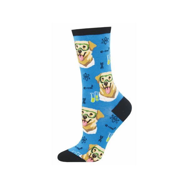 Science Lab Dog Crew Socks - Womens Socksmith Socks - Women's