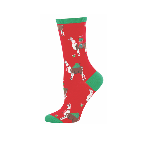 Fa La Llama La Crew Socks - Womens Socksmith Socks - Womens - Holiday