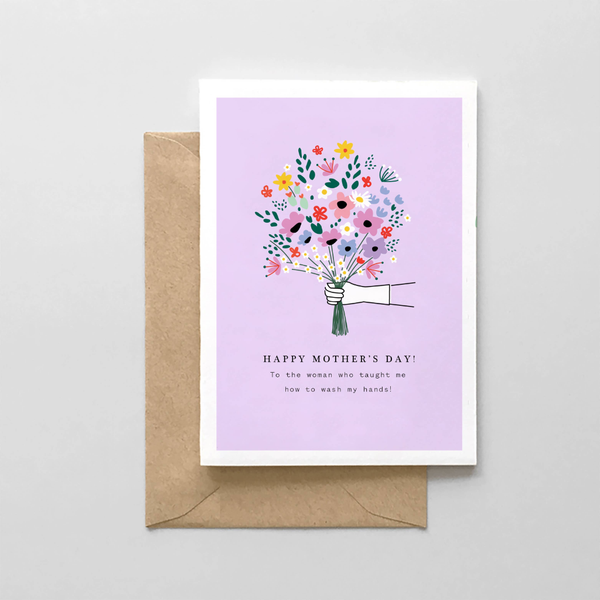 Wash My Hands Mother's Day Card Spaghetti & Meatballs Cards - Mother's Day