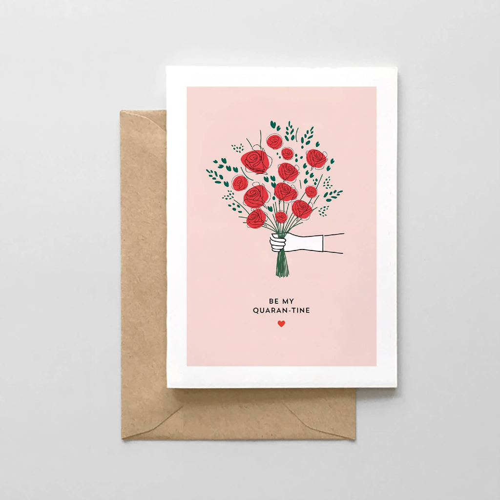 Be My Quaran-tine Valentine's Day Card Spaghetti & Meatballs Cards - Valentine's Day