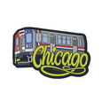 EL TRAIN Chicago Stickers from Sprouted Scribbles SproutedScribbles Stickers