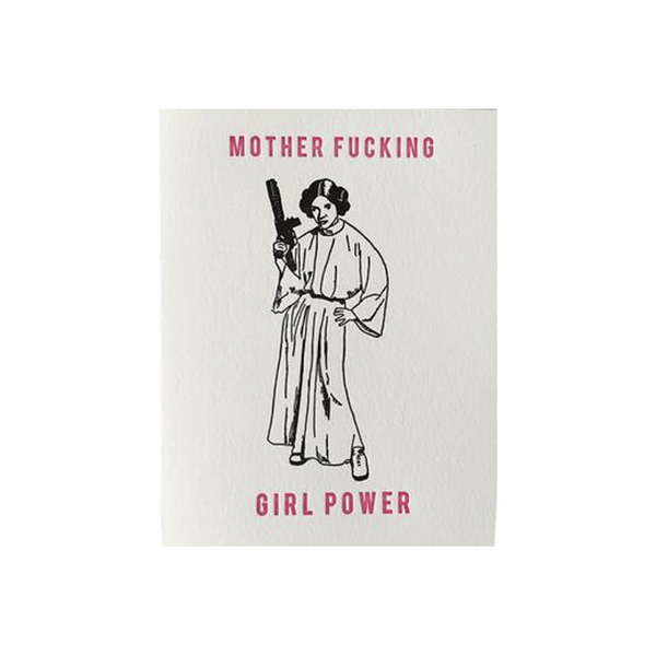 Mother F*cking Girl Power Princess Leia Card Steel Petal Press Greeting Cards