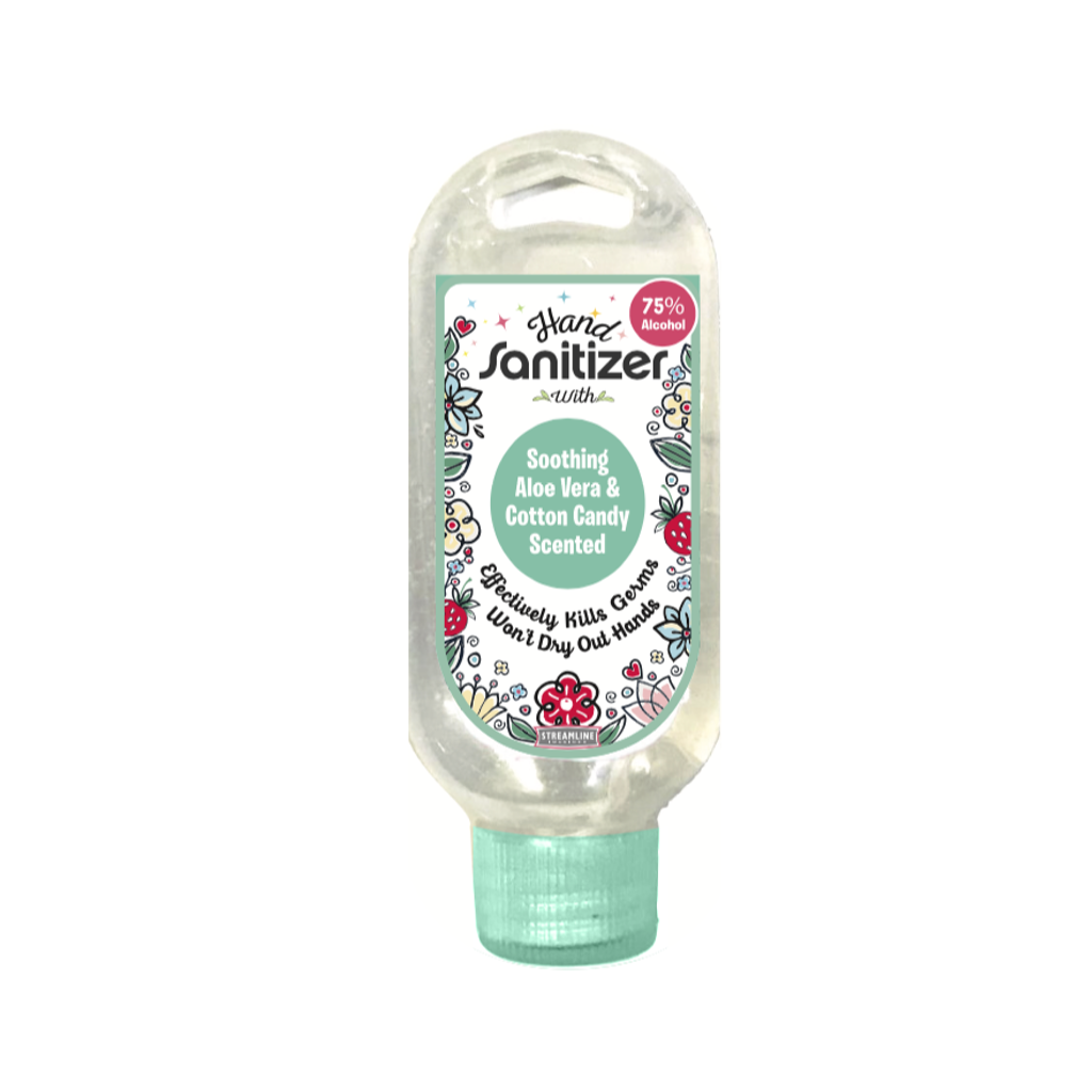 COTTON CANDY Hand Sanitizer - 45mL Bottle Streamline Home - Bath & Body - Hand Sanitizers & Wipes