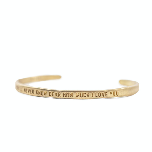 You'll Never Know Dear Brass Cuff Braclet SUGARBOO DESIGNS Jewelry - Bracelet
