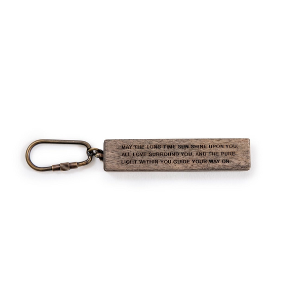 May The Long Time Sun Shine Upon You Wood Keychain SUGARBOO DESIGNS Keychains