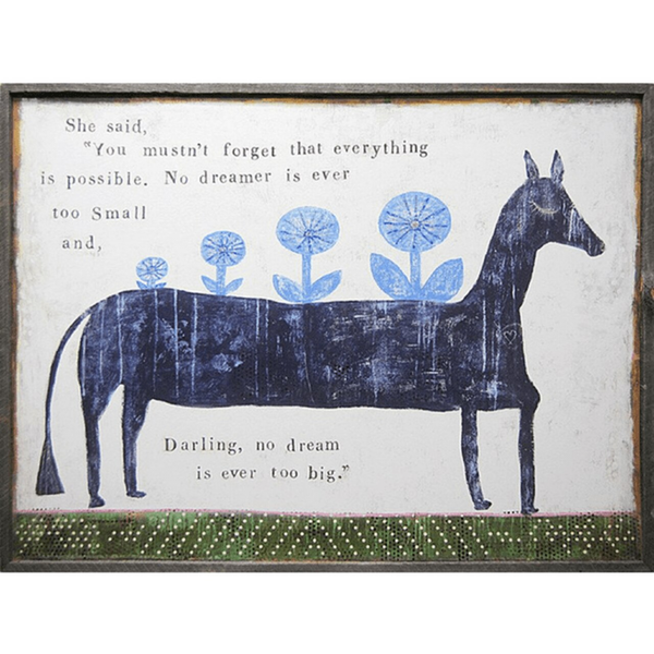"Everything Is Possible Art Print 36"" x 25"" SUGARBOO DESIGNS Plaqes, Signs & Frames"