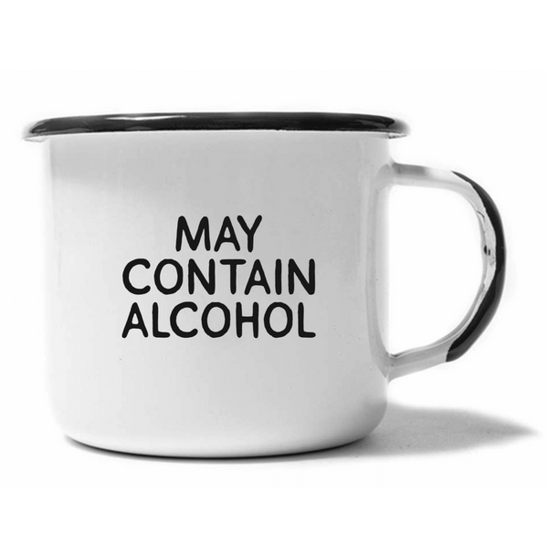 MAY CONTAIN ALCOHOL Enamel Campfire Mug Swag Brewery Mugs & Glasses