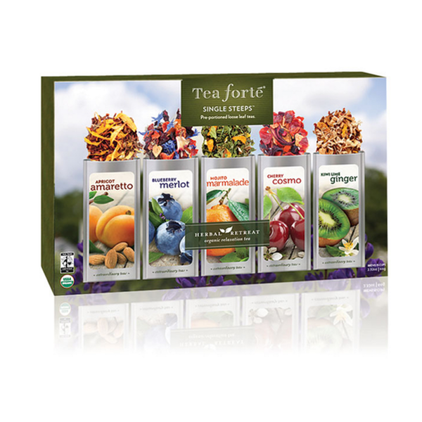 Tea Forte Food, Beverages & Tobacco > Beverages > Tea & Infusions Single Steeps Herbal Retreat Sampler Box by Tea Forte