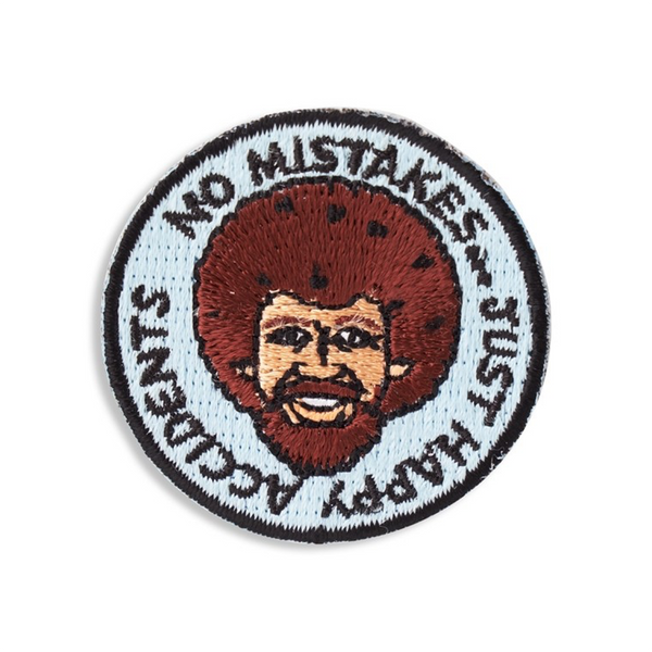 No Mistakes Just Happy Accidents Sticker Patch The Found Appliques & Patches
