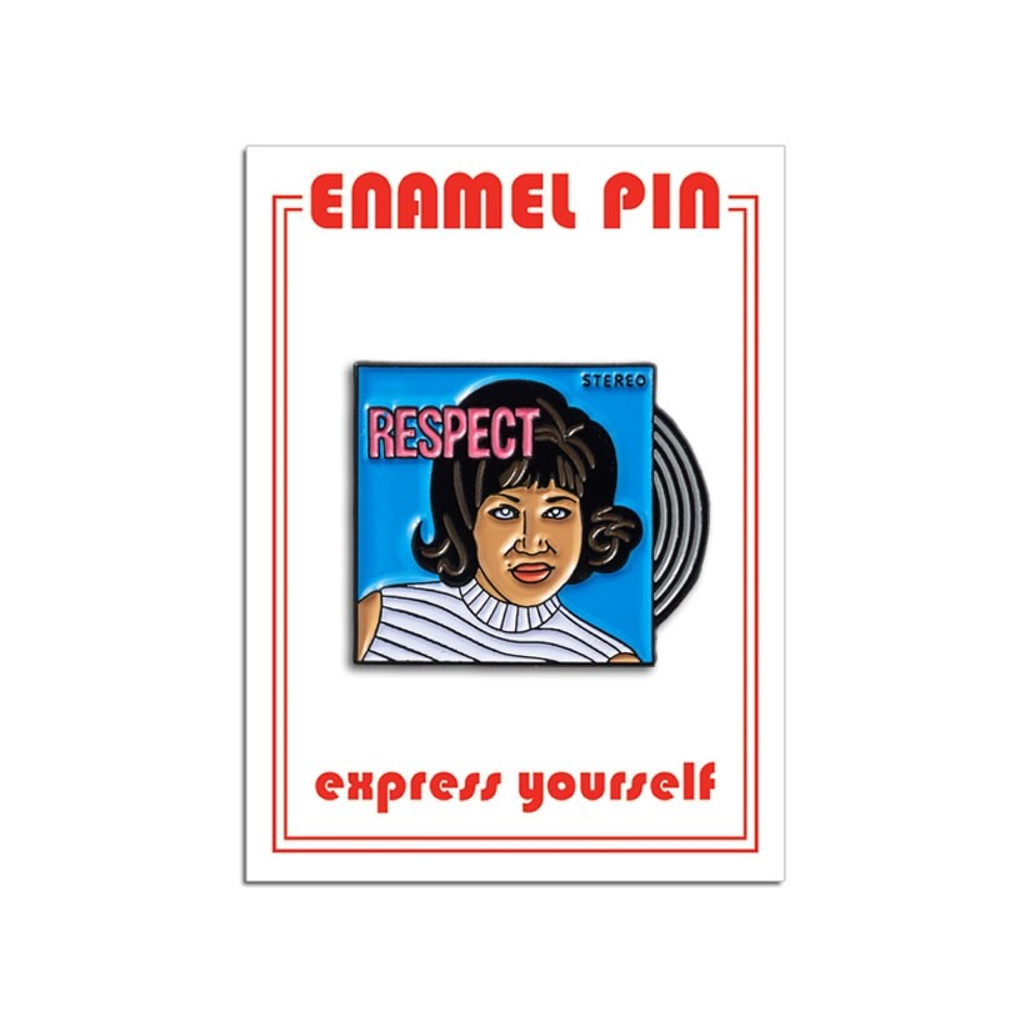 Aretha Franklin RESPECT Pin The Found Buttons & Pins