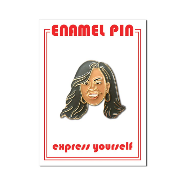 Michelle Obama Enamel Lapel Pin from The Found The Found Buttons & Pins
