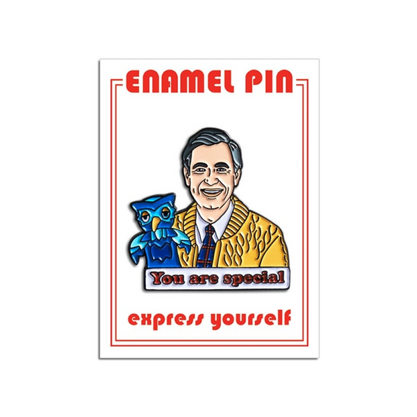 Mister Rogers You Are Special Enamel Pin from The Found The Found Buttons & Pins