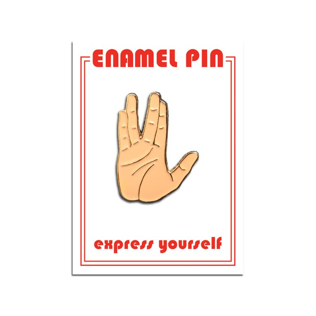 Spock Hand Enamel Lapel Pin from The Found The Found Buttons & Pins
