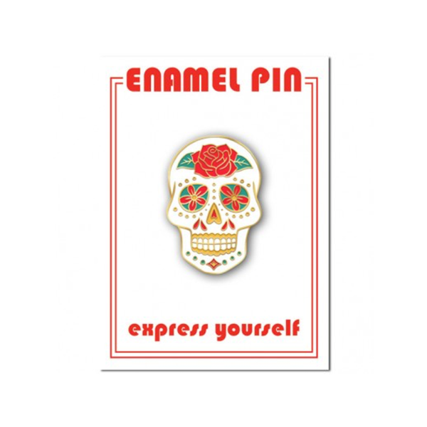 Sugar Skull Enamel Lapel Pin from The Found The Found Buttons & Pins
