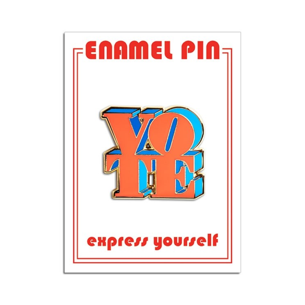 VOTE Enamel Lapel Pin from The Found The Found Buttons & Pins