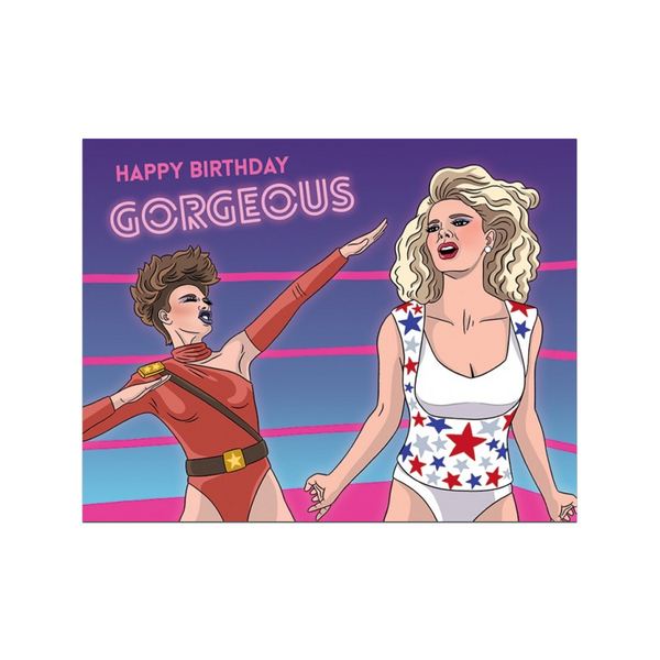 GLOW Happy Birthday Gorgeous Card The Found Greeting Cards