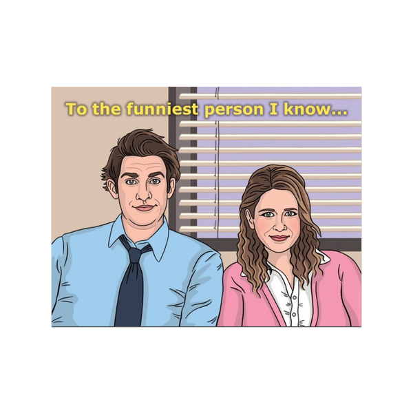 Jim and Pam The Office Greeting Card The Found Greeting Cards