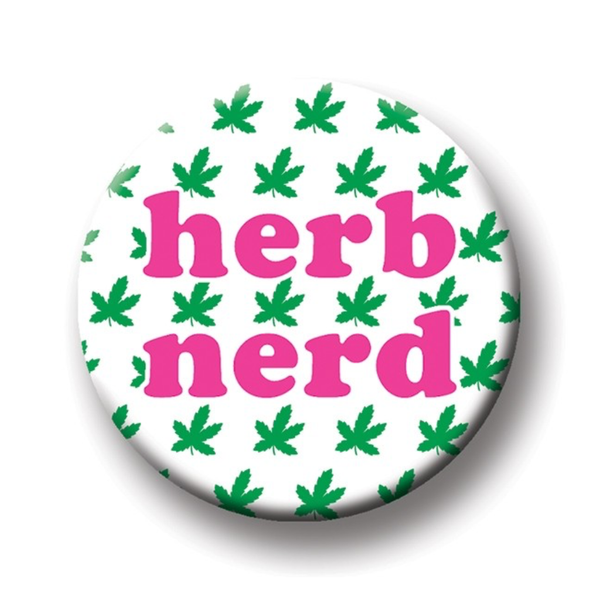Herb Nerd Round Magnet The Found Home - Magnets