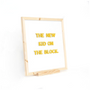 Block Easel Letter Board The Type Set Co. Novelty Signs
