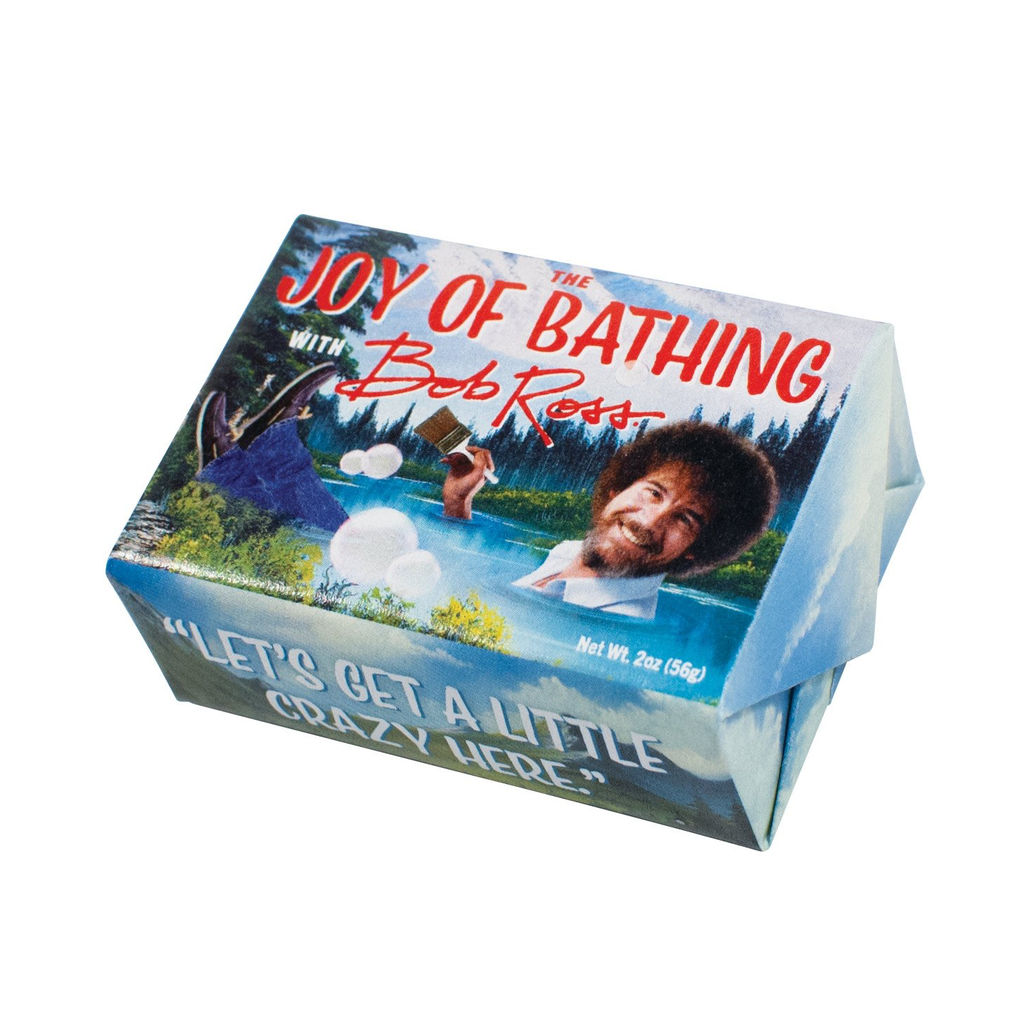 The Joy of Bathing With Bob Ross Soap The Unemployed Philosophers Guild Bar Soap