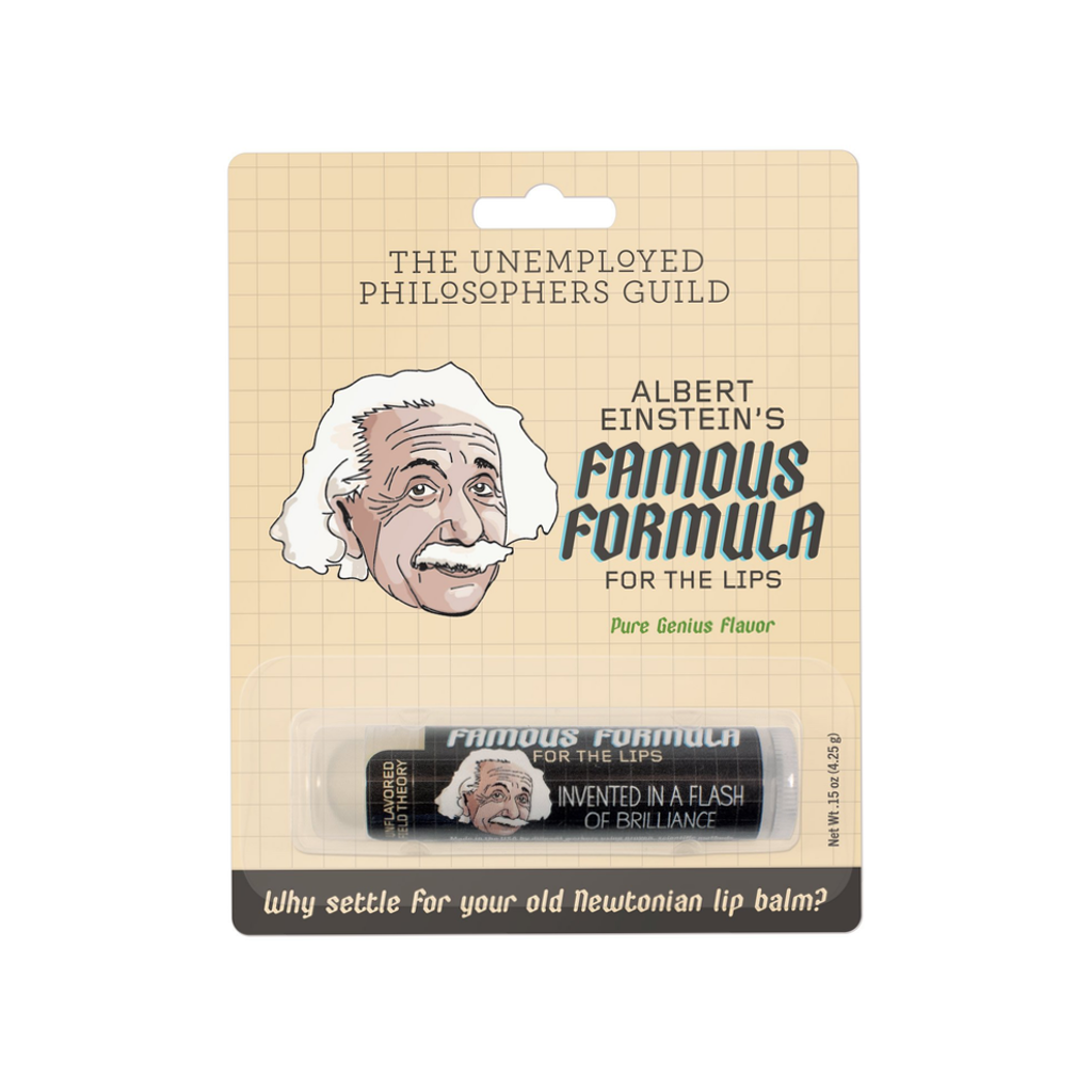 Albert Einstein's Famous Formula Lip Balm The Unemployed Philosophers Guild Lip Balms