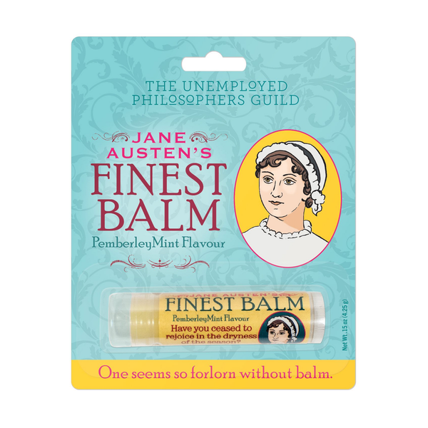 Jane Austen's Finest Balm The Unemployed Philosophers Guild Lip Balms