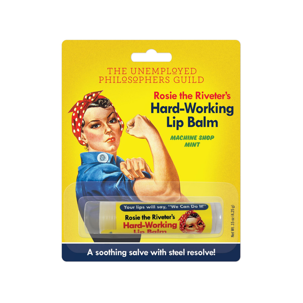 Rosie The Riveter's Hard-Working Lip Balm The Unemployed Philosophers Guild Lip Balms