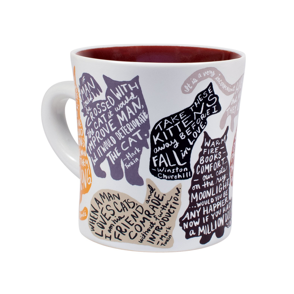 Literary Cats Mug The Unemployed Philosophers Guild Mugs & Glasses