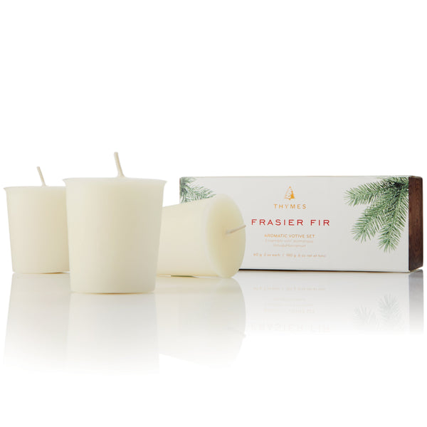 Thymes Frasier Fir Votive Candle Set Thymes Home - Candles
