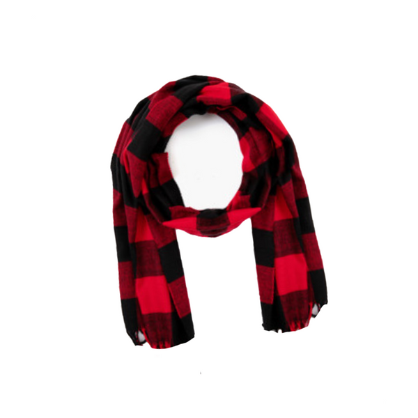 Oblong Scaft - Buffalo Plaid - Red & Black Top It Off Apparel & Accessories - Scarves & Wraps - Winter