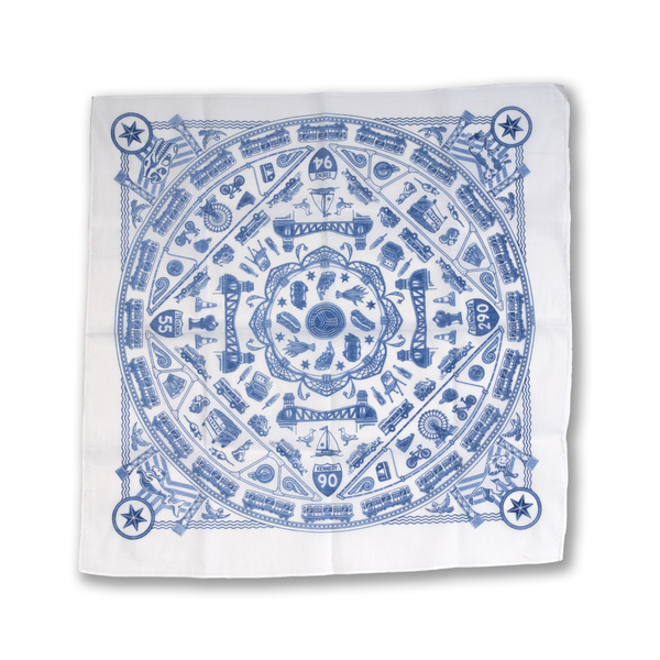 Chicago Icons Bandana Transit Tees Apparel & Accessories - Bandanas & Bandeaus
