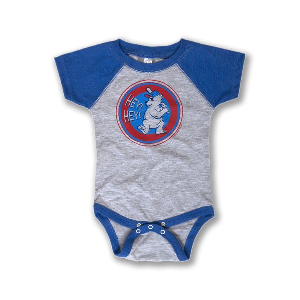 Hey Hey Chicago Cubs Baseball Onesie Transit Tees Baby - Clothing