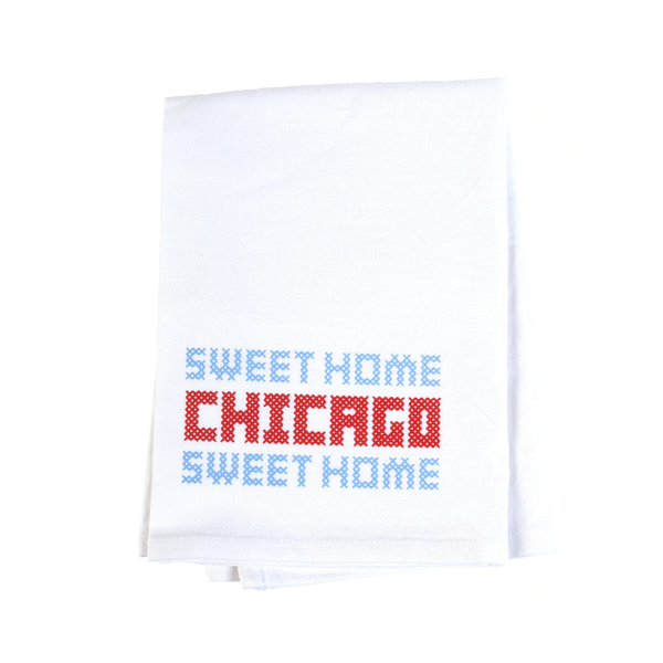 Sweet Home Chicago Flour Sack Dish Towel Transit Tees Kitchen & Dish Towels
