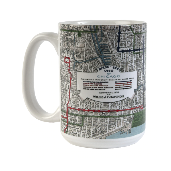 Chicago Elevated Railways Mug Transit Tees Mugs & Glasses