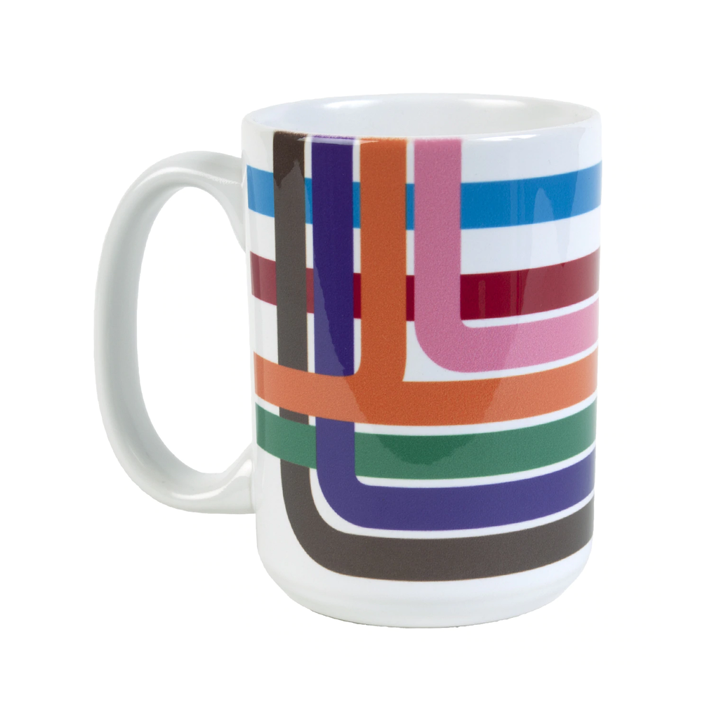 Chicago Loop Stripe Mug Transit Tees Mugs & Glasses
