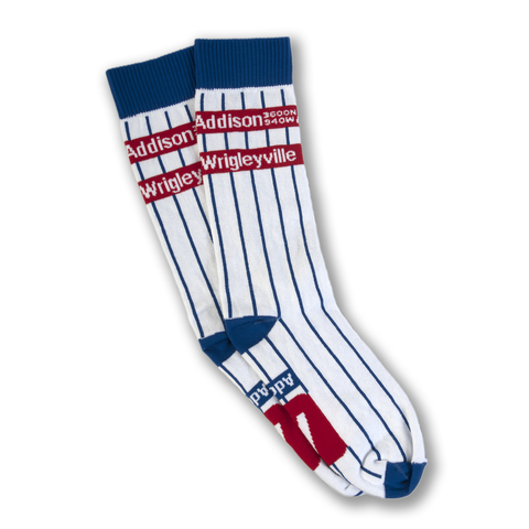 Chicago Addison Wrigleyville Pinstripe Socks