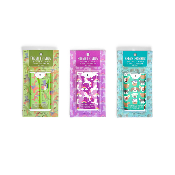 TWO HAND SANITIZER SPRAY FRESH FRIENDS Two's Company Home - Bath & Body - Hand Sanitizers & Wipes