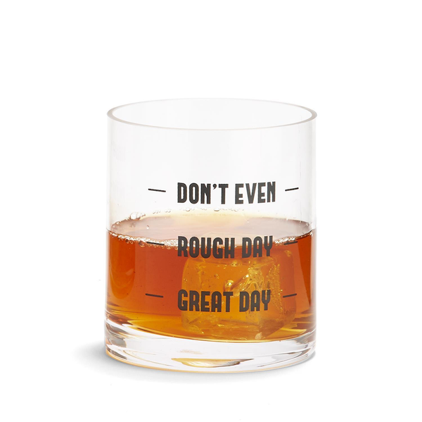 Don't Even Double Old Fashioned Glass Two's Company Home - Mugs & Glasses - Cocktail Glasses