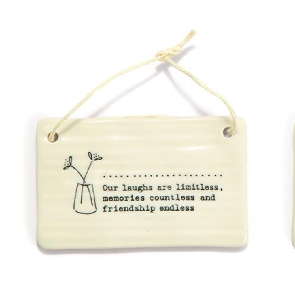 OUR LAUGHS ARE Moments and Memories Rectangular Ornaments Two's Company Home - Wall & Mantle - Ornaments