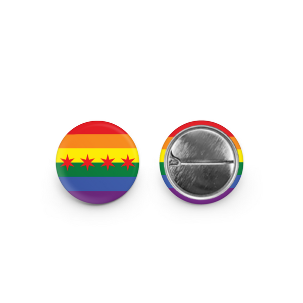 GAY Pride Chicago Flag Button Urban General Store Goods Buttons & Pins