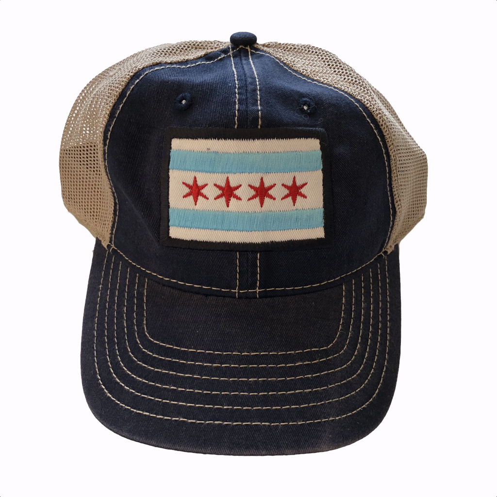Chicago Flag Trucker Mesh Hat Urban General Store Goods Hats