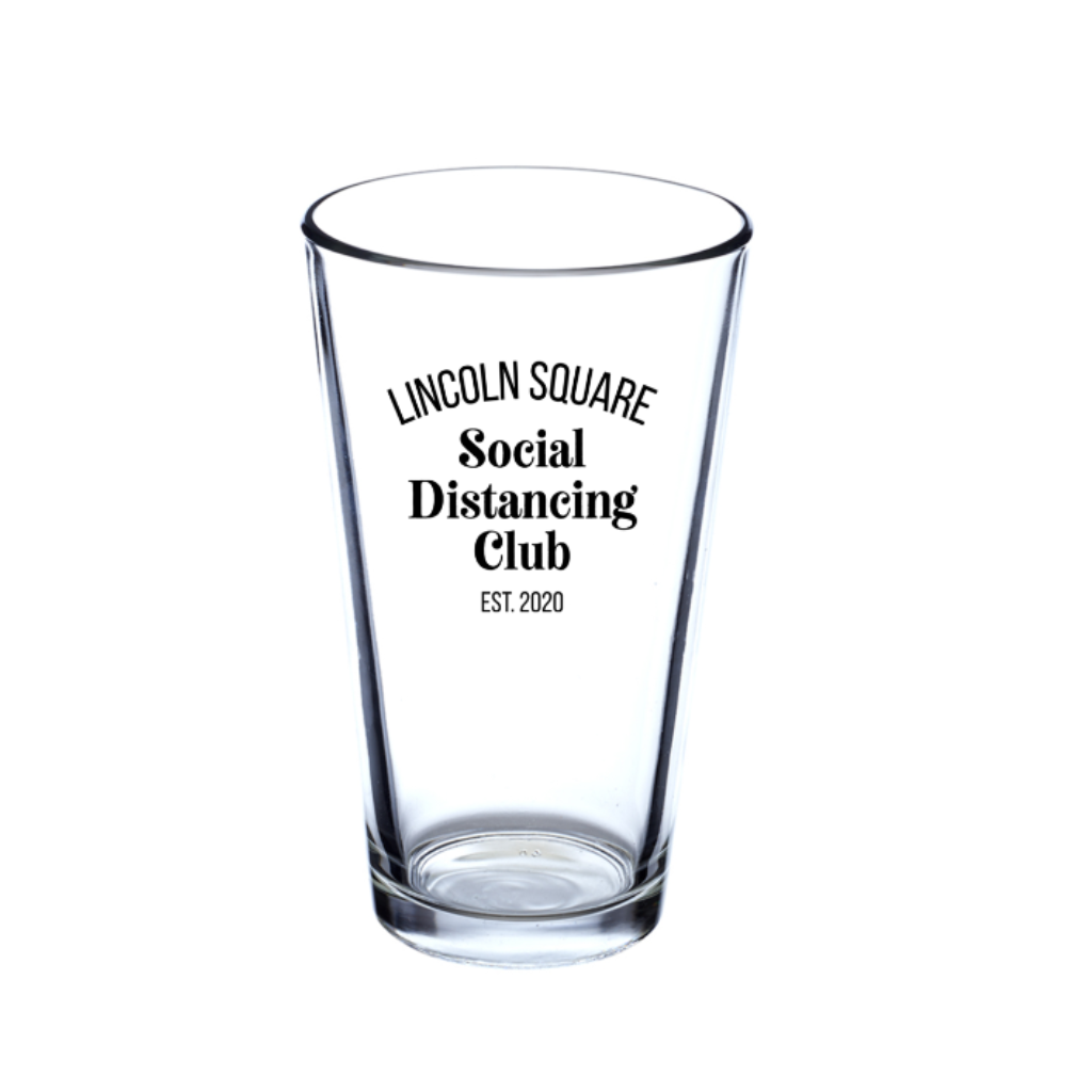 UGG LINCOLN SQUARE SOCIAL DISTANCING CLUB GLASS PINT Urban General Store Goods Home - Mugs & Glasses - Pint Glasses