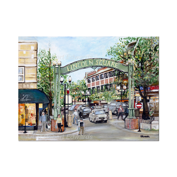 Chicago Lincoln Square Print by Robert Edwards Urban General Store Goods Home - Wall & Mantle - Artwork