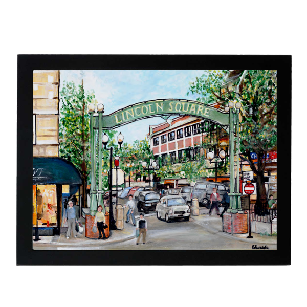 Framed Lincoln Square Chicago Print Robert Edwards Urban General Store Goods Prints & Posters