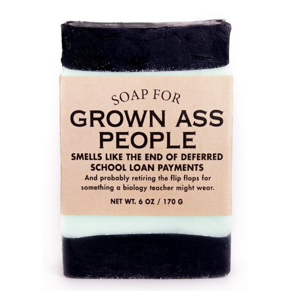 Soap For Grown Ass People Whiskey River Soap Co. Bar Soap