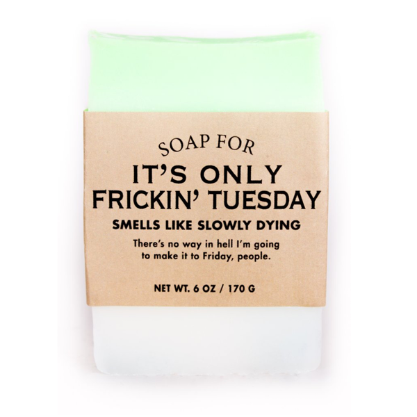 Soap For It's Only Frickin' Tuesday Whiskey River Soap Co. Bar Soap