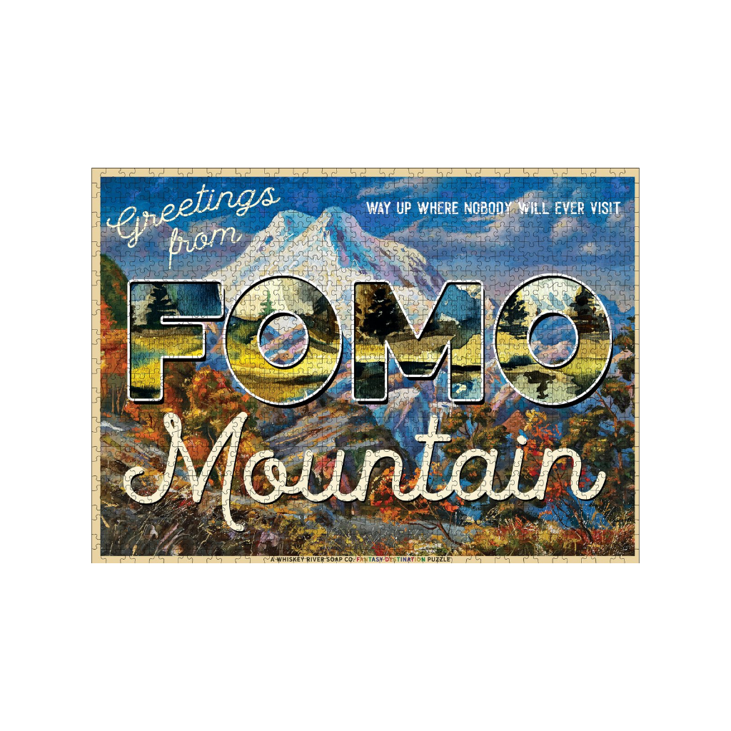 Greetings from FOMO Mountain 1000 Piece Jigsaw Puzzle Whiskey River Soap Co. Toys & Games - Puzzles