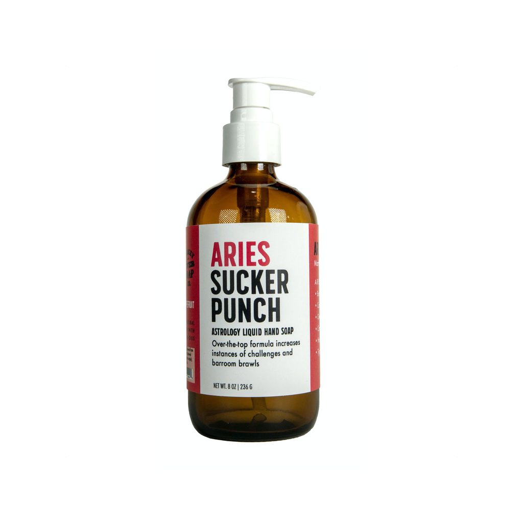 Aries Sucker Punch Liquid Hand Soap Whiskey River Soap Liquid Hand Soap