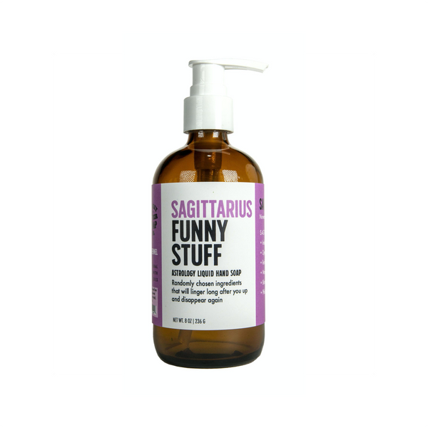 Sagittarius Funny Stuff Liquid Hand Soap Whiskey River Soap Liquid Hand Soap
